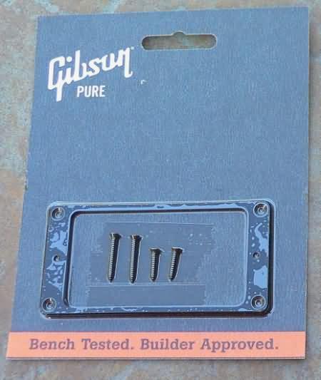 "NEW Gibson Les Paul  Pickup Ring Black NECK 1/8"""