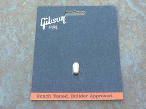 NEW Gibson Pickup switch tip cap White