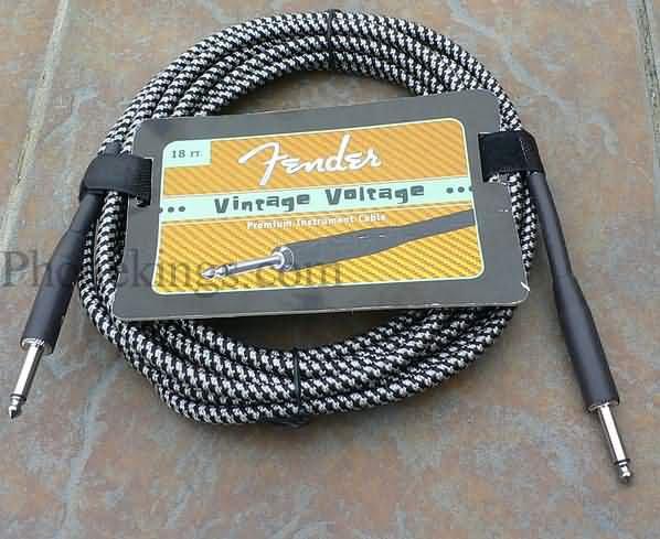 Fender Vintage Voltage 18' Guitar cord cable BLACK