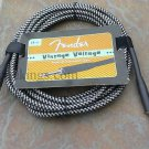 Fender Vintage Voltage 18' Guitar cord cable BLACK