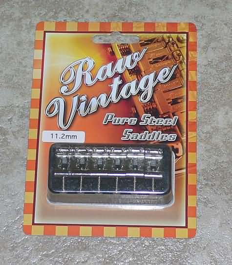 Raw Vintage Pure Steel Saddles Fender  Strat guitar USA