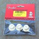 NEW Fender stratocaster strat Tone Vol knobs aged White