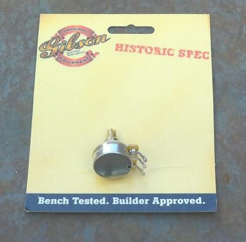 NEW Gibson  500K potentiometer pot  Short HISTORIC