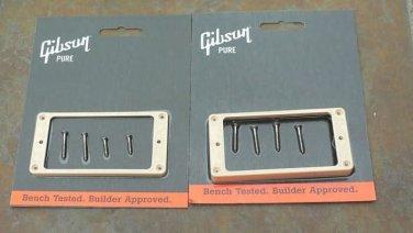 Les Paul  pickup ring set    genuine Gibson rings Cream