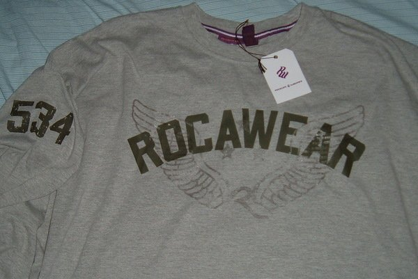 Rocawear Grey Roc Big Tall Shirt 5x 5xl 5xlt