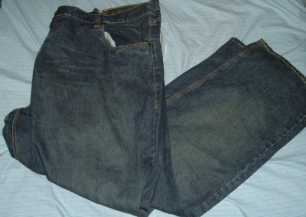 Karl Kani Blue Denim Big Tall Jeans W 54 L 34