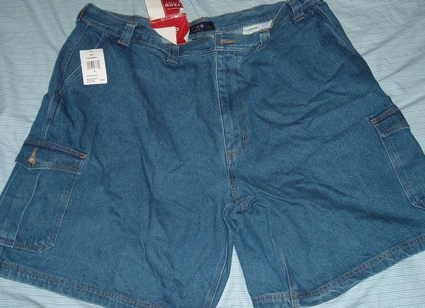 Izod Denim Jeans Cargo Big Tall Shorts Sz 52