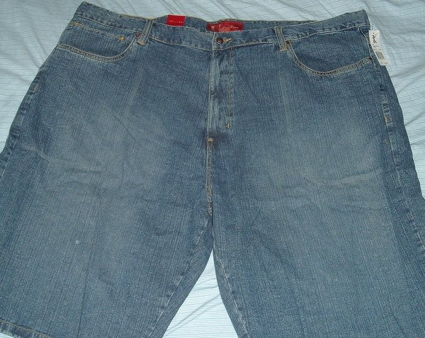 Karl Kani Blue Denim Jeans Big Tall Shorts Sz 50