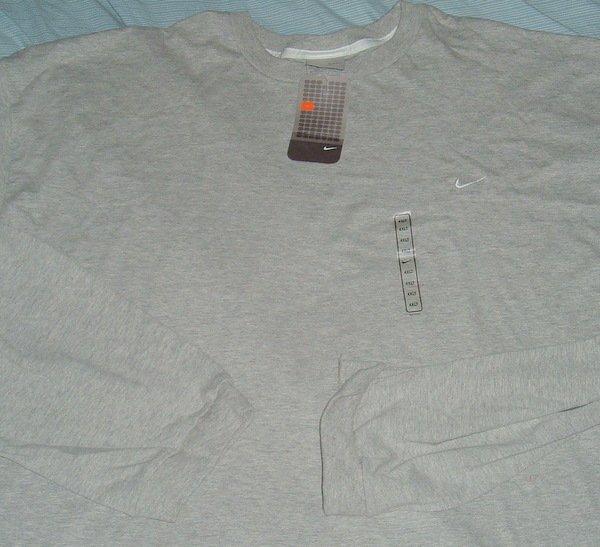 Nike Air Grey White Logo Big Tall T Shirt 4xlt 4xl 4x