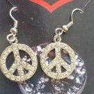 Rhinestone Peace Earrings