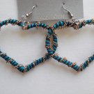Heart Earrings (Blue)