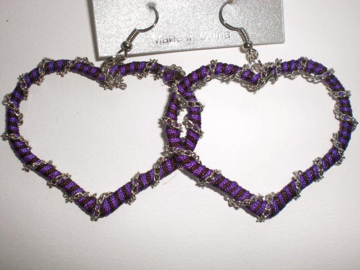 Heart Earrings (Purple)