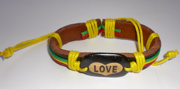 Rastafarian Love Bracelet with Yellow String