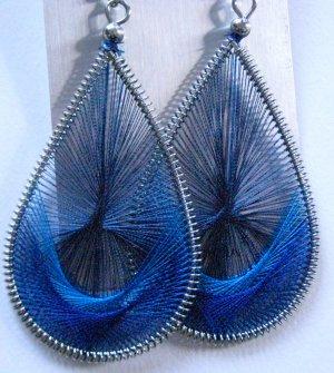 Threaded Earrings (Blue)