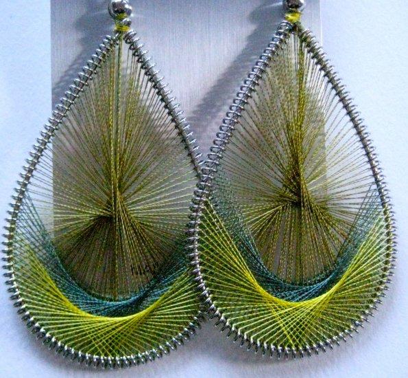Threaded Earrings (Earthy Greens)
