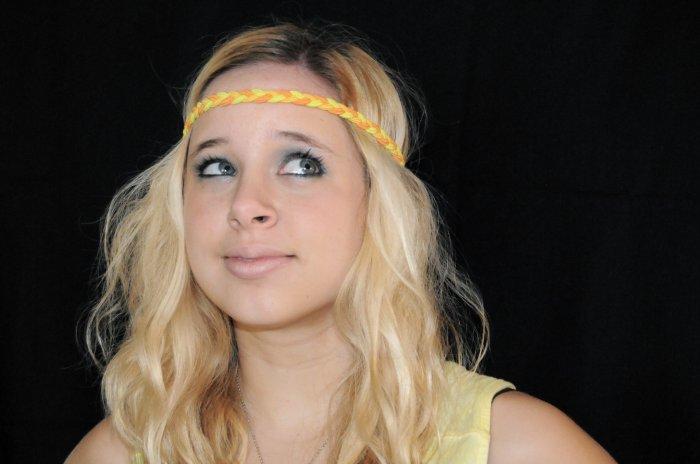 Braided Headband (Yellow)