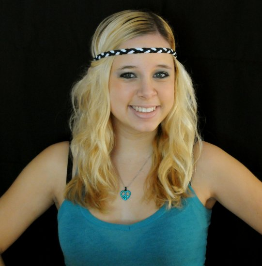 Braided Headband (Black & White)