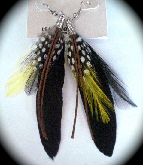 Feather Earrings (Black)