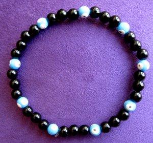 Evil Eye Black Beaded Bracelet
