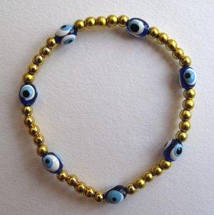 Evil Eye Gold Beaded Bracelet (LIMITED EDITION)