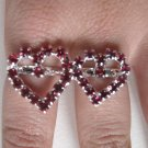 Two Finger Heart Ring (Pink)
