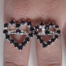 Two Finger Heart Ring (Purple)
