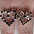 Two Finger Heart Ring (Brown)