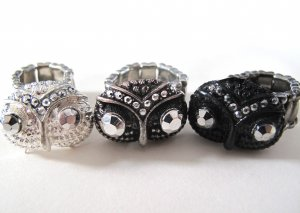 Owl Adjustable Rings (Choose Your Color!)