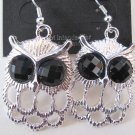 Small Owl Earrings (Silver)