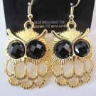Small Owl Earrings (Gold)