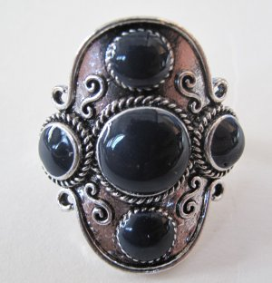 Four Stone Ring (Navy) ONE LEFT