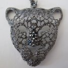 Panther Necklace (Dark Silver Rhinestones)
