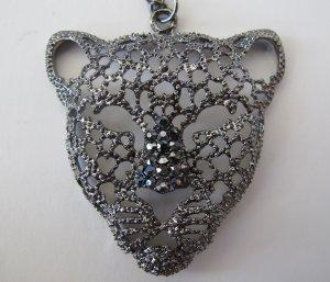 Panther Necklace (Dark Silver Rhinestones)