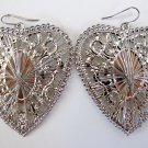 Silver Mirrored Heart Earrings