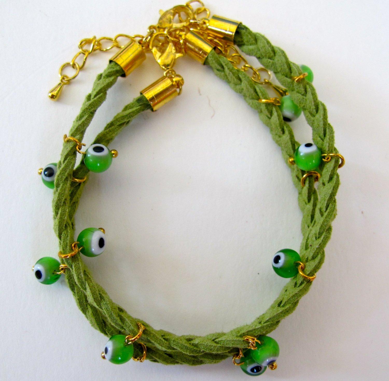 Evil Eye Bracelet (Green)