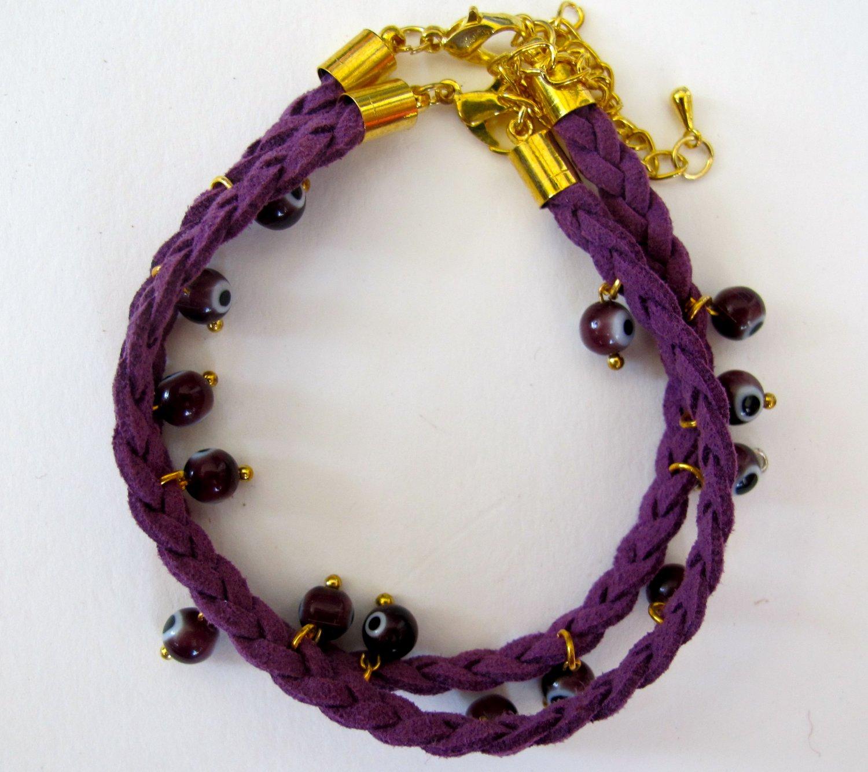 Evil Eye Bracelet (Purple)