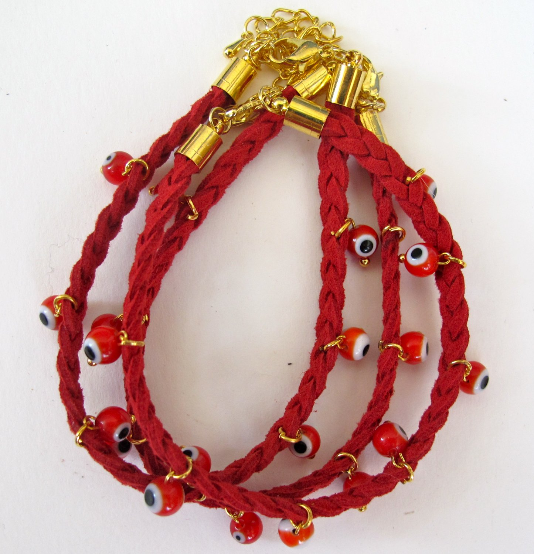 Evil Eye Bracelet (Red)