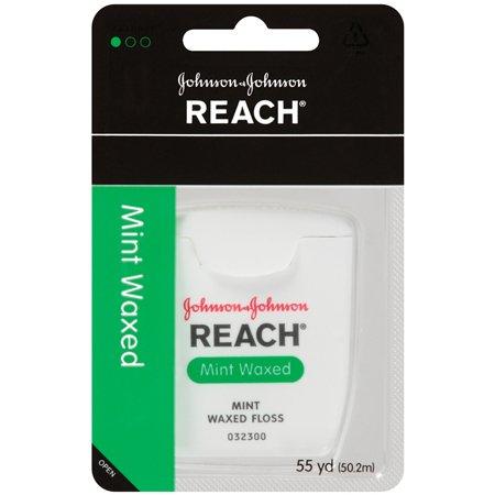 Johnson & Johnson Reach Mint Waxed Dental Floss, 55 yd