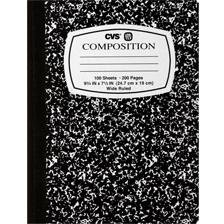 cvs caliber composition book wide ruled notebook 100 sheets 200