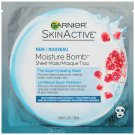 Garnier SkinActive Moisture Bomb Sheet Mask, Super Hydrating, Pomegranate Extract + Hyaluronic Acid