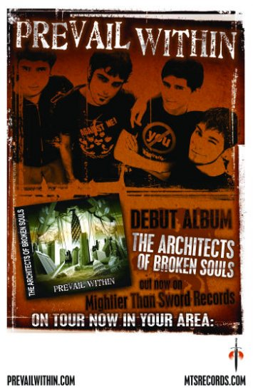 """Prevail Within """"AOBS"""" Tour Poster"""