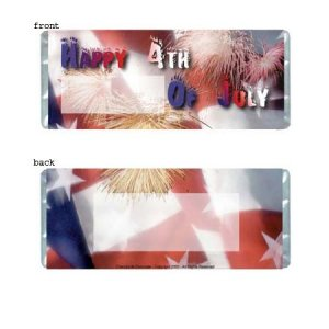 July 4th Personalized Candy Bar Wrapper HD002-C