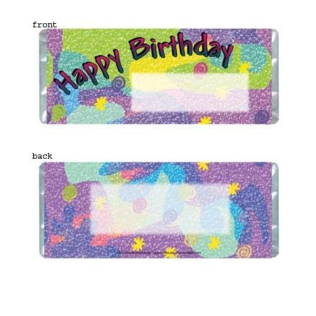 Birthday 2 Personalized Candy Bar Wrapper Only BD002