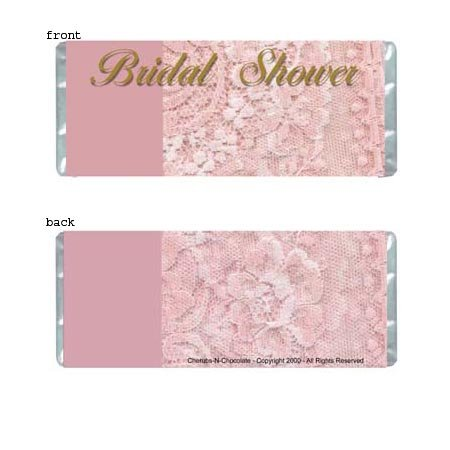 Bridal Shower 1 Personalized Candy Bar Wrapper Only BS02