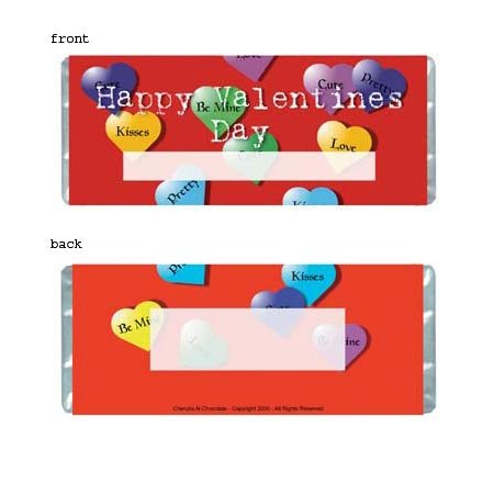Valentine Personalized Candy Bar Wrapper Only HD003