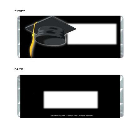 Graduation 1 Personalized Candy Bar Wrapper Only SE014
