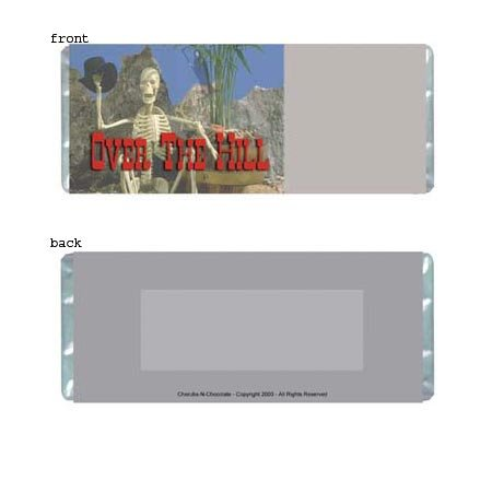 Over The Hill Personalized Candy Bar Wrapper Only BD005