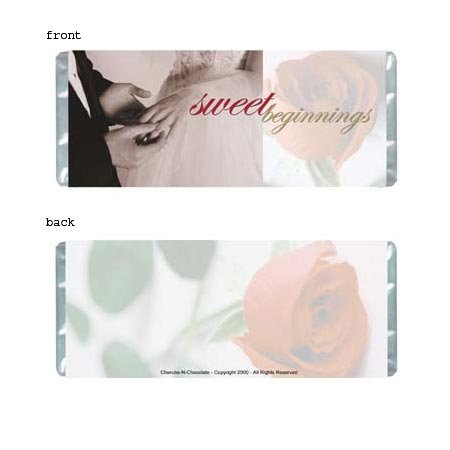 Sweet Beginnings Personalized Candy Bar Wrapper Only WD003
