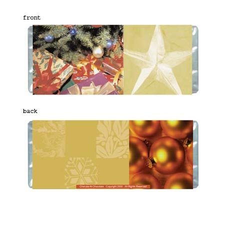 Christmas 2 Personalized Candy Bar Wrapper Only HD006