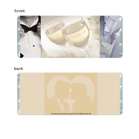 Wedding Elegance 1 Personalized Candy Bar Wrapper Only WD005
